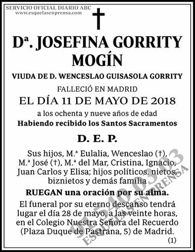 Josefina Gorrity Mogín